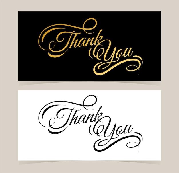Obrigado, pôster e cartão