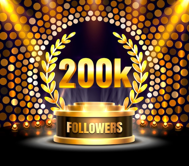 Obrigado povos seguidores, grupo social online de 200k