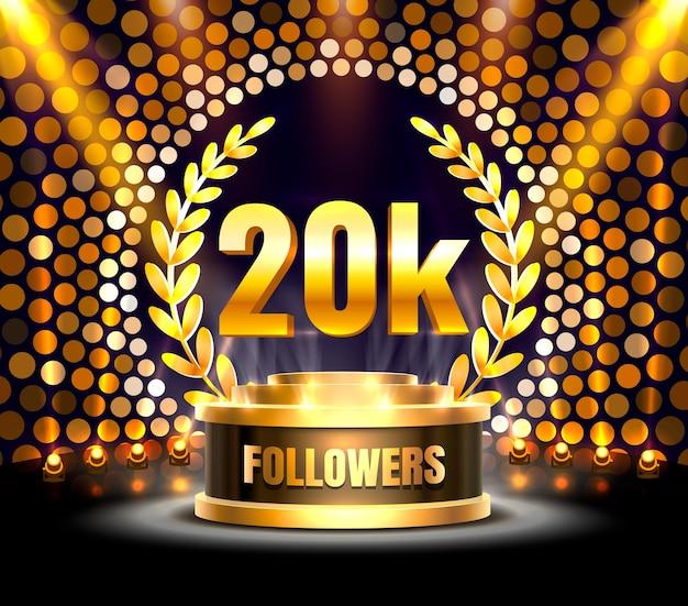 Obrigado povos seguidores, grupo social online de 20k