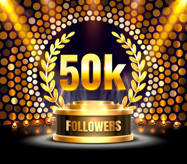 Obrigado povos seguidores, grupo social online de 50k