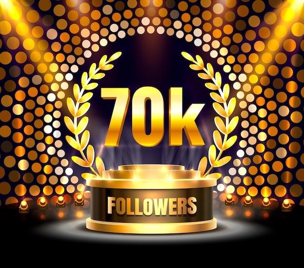 Obrigado povos seguidores, grupo social online de 70 mil