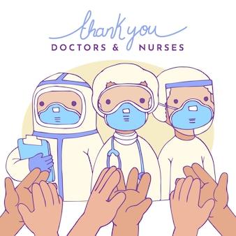 Obrigado profissionais de saúde