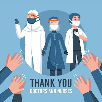 Obrigado profissionais médicos