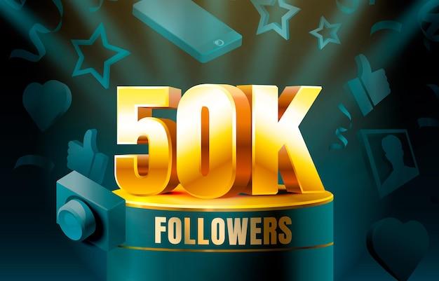 Obrigado seguidores 50k banner