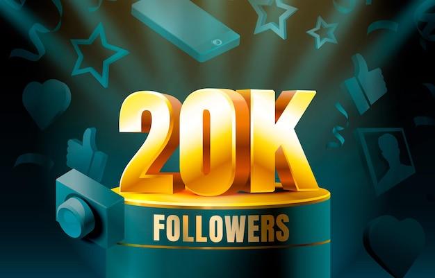 Obrigado seguidores banner 20k