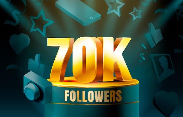 Obrigado seguidores banner de 70 mil seguidores