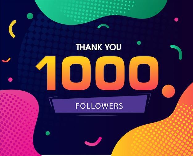Obrigado seguidores fundo