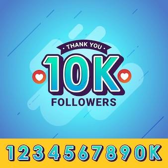 Obrigado seguidores parabéns banner