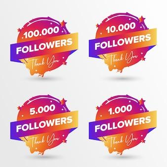 Obrigado seguidores pelo crachá do instagram
