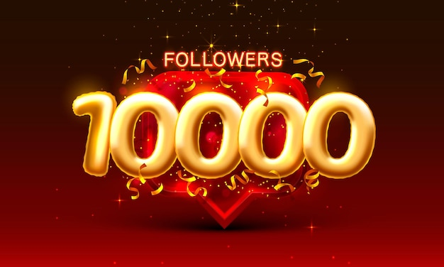 Obrigado seguidores povos k grupo social online banner feliz comemorar vetor