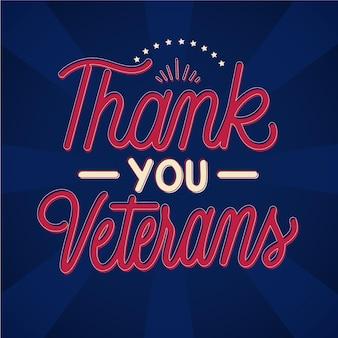 Obrigado, veteranos, estilo de letras