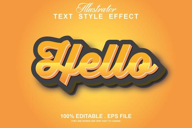Observe o efeito de texto editável