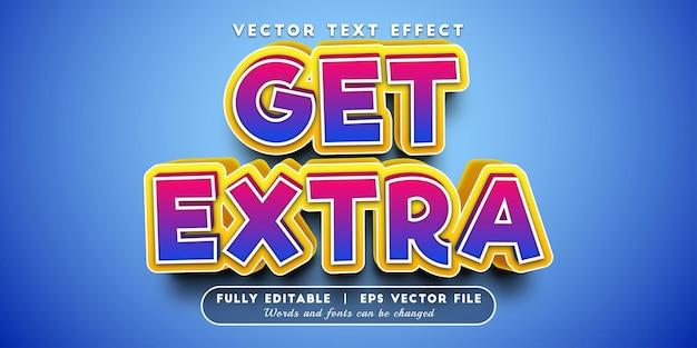 Obtenha efeito de texto extra com estilo de texto editável