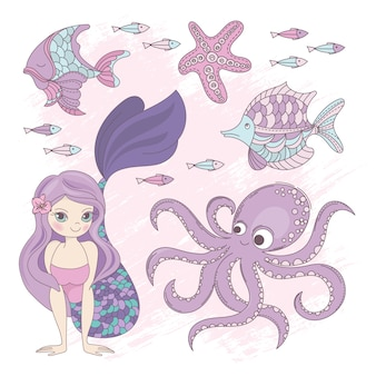 Oceano cruzeiro de verão da princesa da sereia