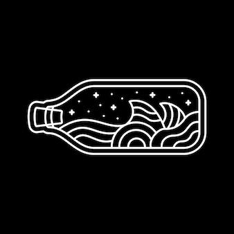 Oceano e garrafa