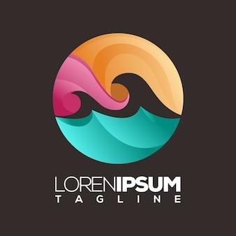 Oceanos logotipo ou modelo de logotipo, inspiração de identidade