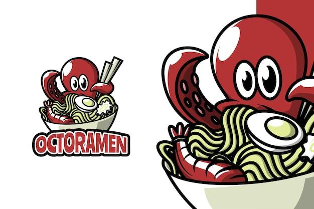 Octoramen - modelo de logotipo de mascote