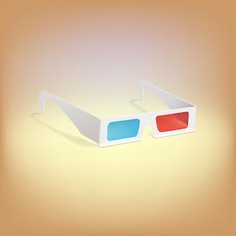 Óculos 3d com filtros vermelhos e azuis