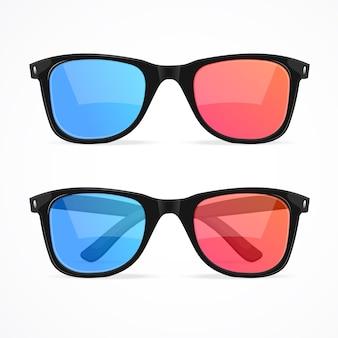 Óculos 3d para conjunto de cinema.