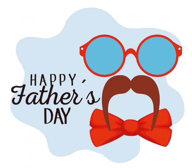 Óculos com bigode e laço para o dia dos pais