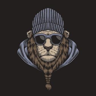 Óculos de cabeça de leão
