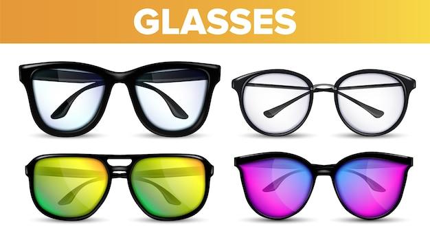 Óculos de óculos modernos e vintage