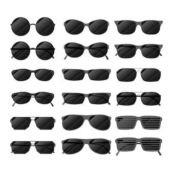 Óculos de sol brilhantes pretos