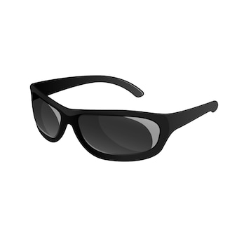 Óculos de sol de moda preta