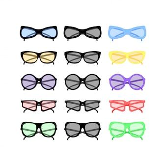 Óculos de sol do partido do vetor