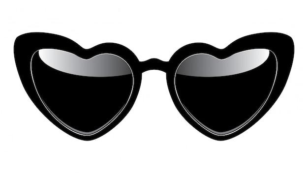 Óculos de sol em forma de coração