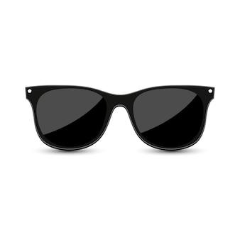 Óculos de sol hipster preto