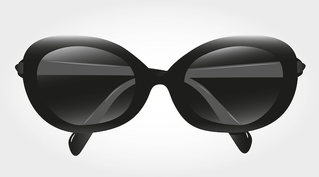 Óculos de sol pretos isolados