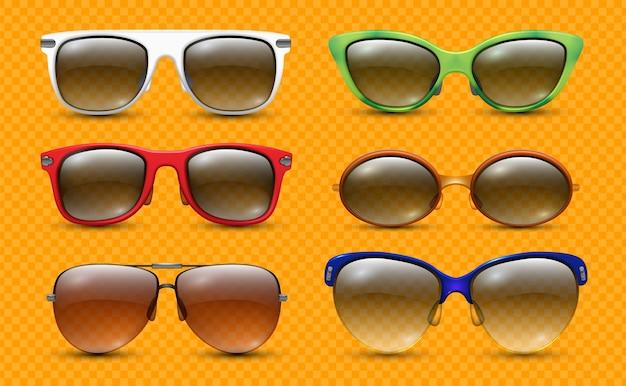 Óculos de sol realistas. óculos de estilista