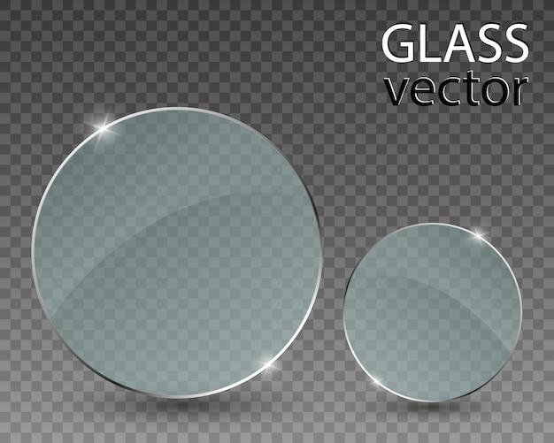 Óculos em fundo transparente. moldura de vidro transparente vazia.