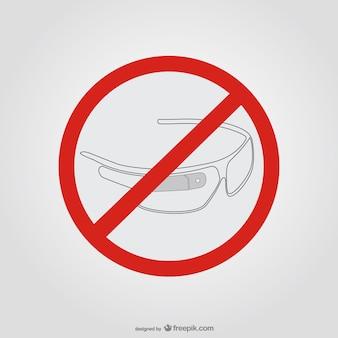 Óculos google sinal de parada