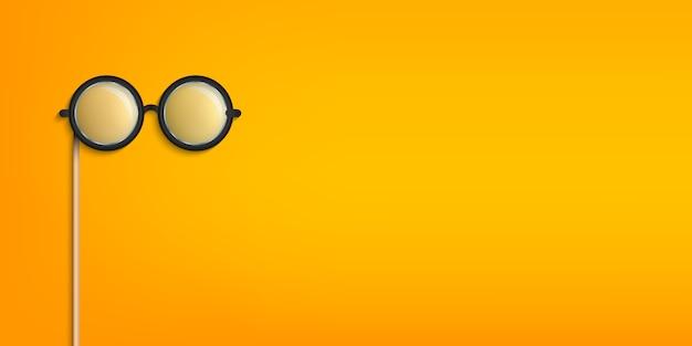 Óculos grudam, óculos adereços cabine de fotos.