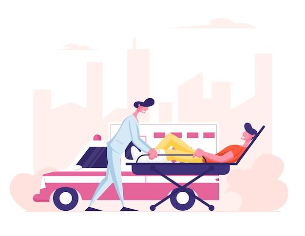 Ocupação do pessoal médico da ambulância