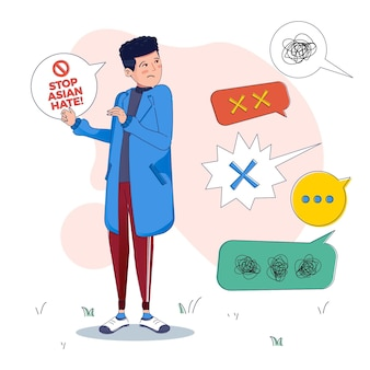 Ódio asiático ilustrado