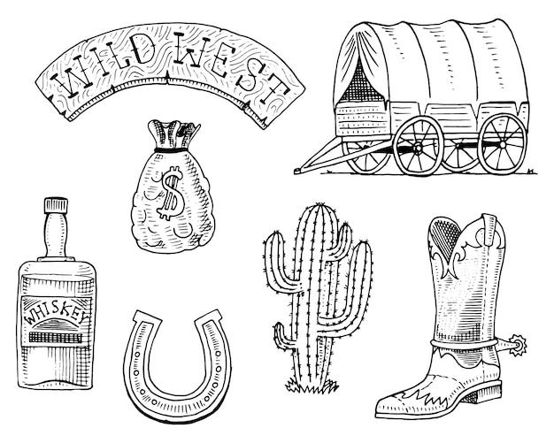 Oeste selvagem, show de rodeio, xerife, cowboy ou índios.