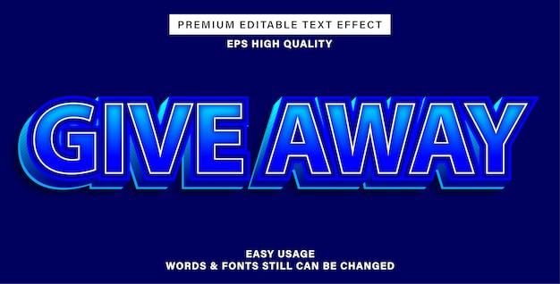 Ofereça efeito de texto editável