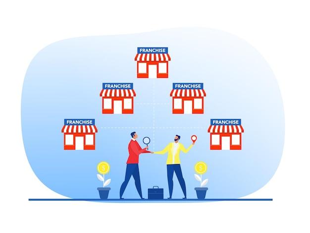 Oferta de empresário investir com pequenas empresas de ilustrador vetorial de planejamento de marketing financeiro
