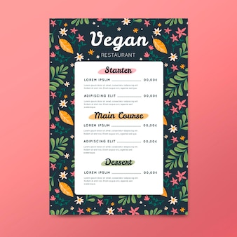 Oferta de menu de restaurante na primavera