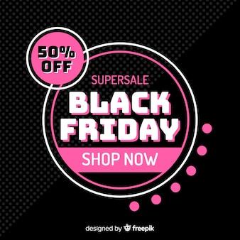 Oferta de sexta-feira negra em design plano