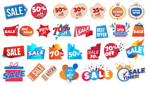 Oferta de super venda e preços de desconto e cupons