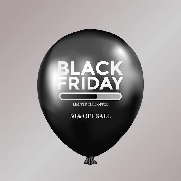 Oferta de tempo limitado modelo preto sexta-feira com balão