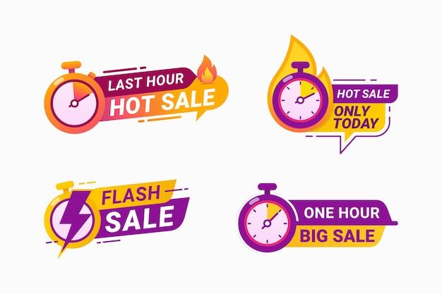 Oferta de última hora com selo de vendas quentes por tempo limitado