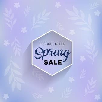 Oferta de venda de temporada de primavera