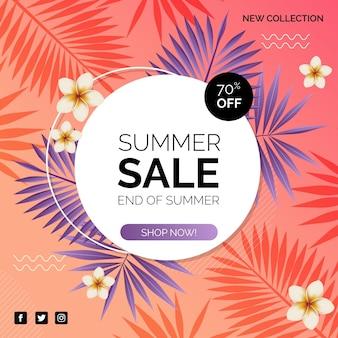 Oferta de venda de verão colorido