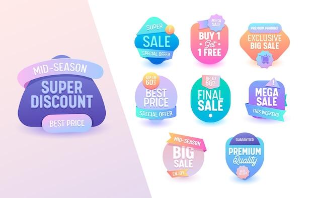 Oferta de venda mega conjunto geométrico colorido