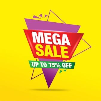 Oferta de venda, oferta especial e etiquetas de preço